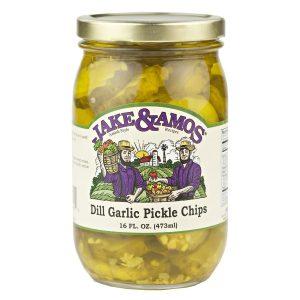 Jake & Amos Dill Garlic Pickle Chips - 16 oz. -0