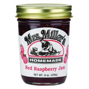 Mrs. Miller's Red Raspberry Jam - 8 oz. -0