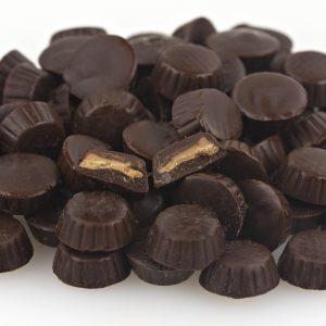 Mini Dark Chocolate Peanut Butter Cups -0