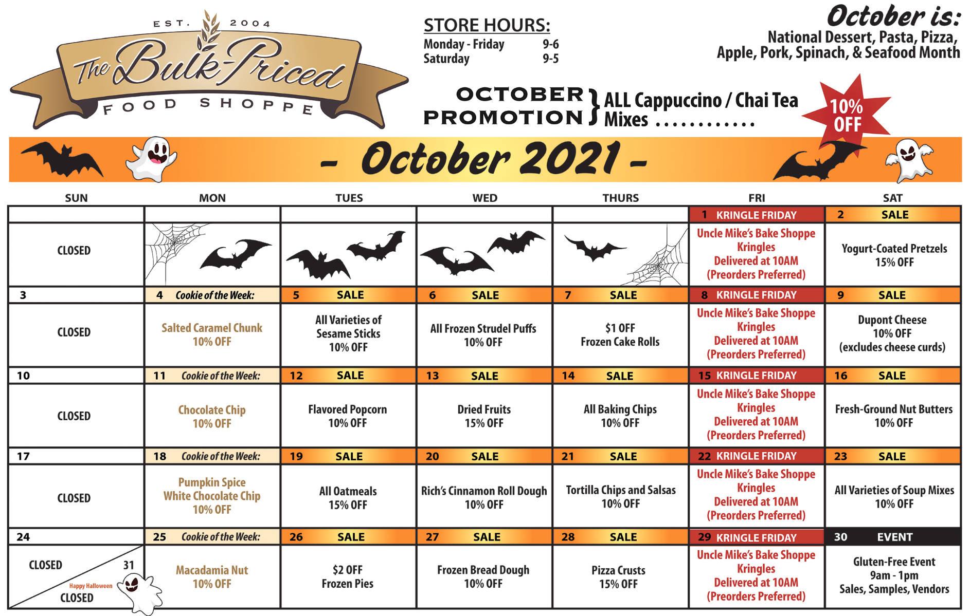 October In-Store Specials